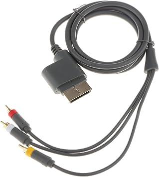 Sharplace Cable Compuesto AV Televisor Antiguo con Enchufes Accesorios Compatible con Consolas Microsoft Xbox 360: Amazon.es: Electrónica
