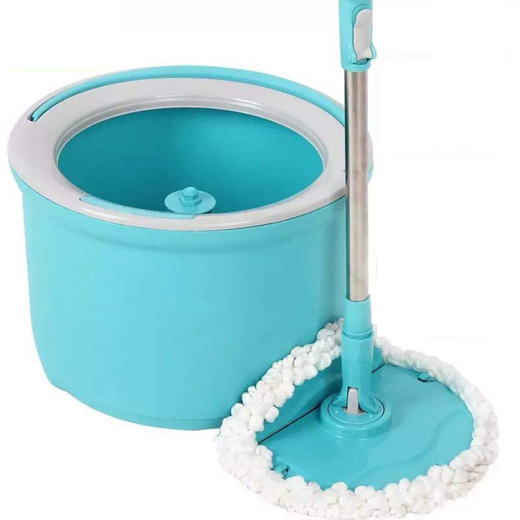 Stainless Steel Single Drive Automatic Rotary Hand Pressure mop Drag Replacement mop Cloth Automatic mop Household Hand-Washing mop Suitable for Cleaning Home Office classrooms and so on,A by Happy Time