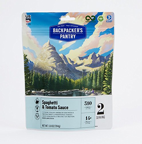 Backpacker's Pantry Spaghetti & Sauce, 2 Servings Per Pouch, Freeze Dried Food, 14 Grams of Protein, Vegan