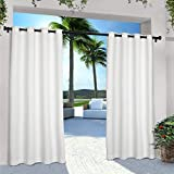 Exclusive Home Curtains in/Out Solid Grommet Top Panel Pair, White, 54x120, 2 Piece