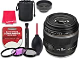 Canon EF-S 60mm f/2.8 Macro USM Lens for Canon DSLR Cameras - International Version (No Warranty) + 3pc Filter Kit (UV, FLD, CPL) + 3pc Accessory Kit w/ Celltime Cleaning Cloth