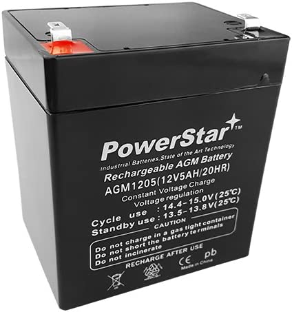 Amazon Com Powerstar 12v 5ah Battery For Craftsman Garage Door Opener Model 53918 3 Year Warranty Home Audio Theater