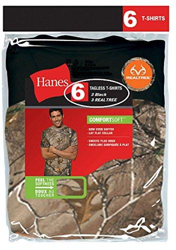 Hanes Men's 2 Pack Real Tree Comfortsoft Crew T-Shirt- L (Real Tree T Shirts)