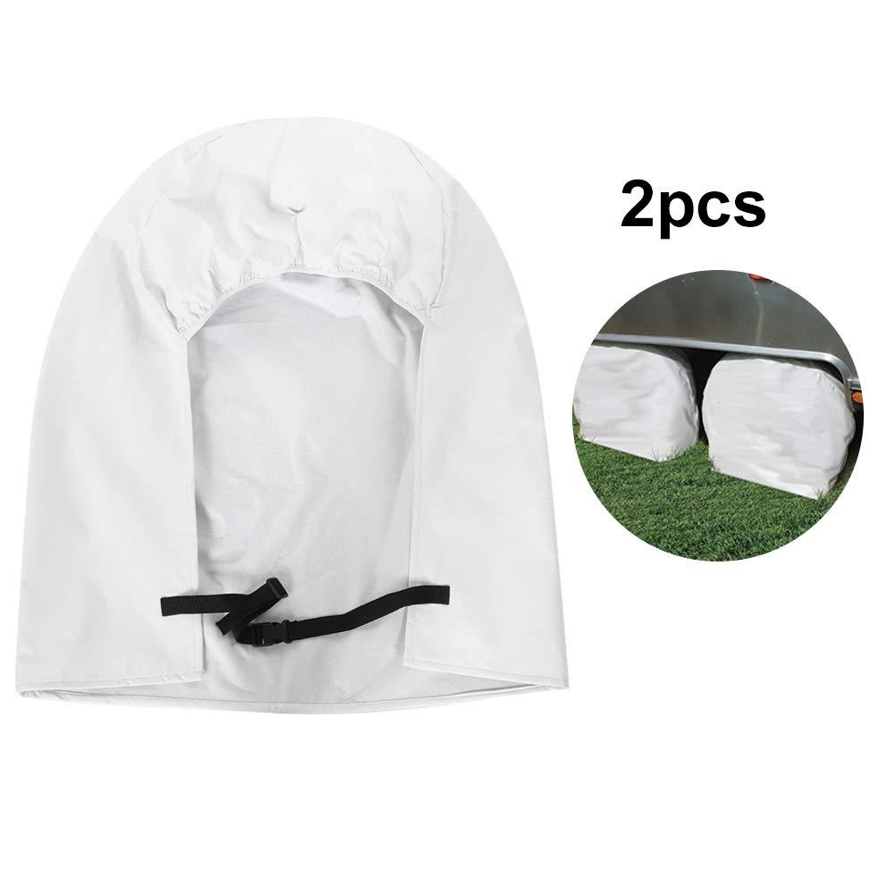 KIMISS 2Pcs 27-29 Tire Diametri Protezioni per Pneumatici Resistenti alle intemperie Copriruota Protezione Pneumatici per Camper Camper