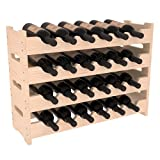 wavy wooden wine rack - Wine Racks America Ponderosa Pine 24 Bottle Mini Scallop. 13 Stains to Choose From!