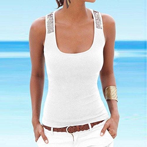 Gym D'été Dames Size Nageur Musculation Dos Gilet Gris s Sans Blanc Plus Top Séchage Blouse Manches Rapide Débardeur De Shirt Yoga T Sequin Tops Sport zqwTUF