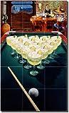''Rack of Margaritas'' by Bruce Eagle - Artwork On Tile Ceramic Mural 30'' x 18'' Kitchen Shower Backsplash