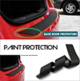 Jiakanuo Auto Accessories Exterior Car Rear Back Door Sill Scuff Plate Bumper Protector Trim Protective Strip Fit for Benz Smart 2015-2016 Black