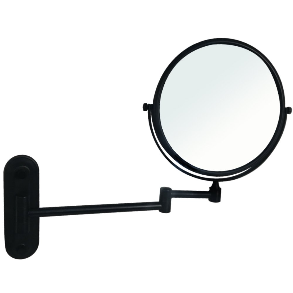 Gecious Wall Mount Vanity Makeup Magnifying Mirror,Black,1x/10x magnification,360°Swivel 12'' Extension Two-Side Retractable Oil Rubbed Finish,8-Inch by Gecious (Image #8)