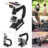 Fantaseal 4-in-1 Smartphone+Action Camera+Camcorder+ DSLR Camera Stabilizer C Shape Rig Low Position Shooting System for Nikon Canon Sony GoPro SJCAM Xiaomi Yi Sony Garmin Virb XE + iPhone Samsung