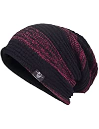JESSE · RENA Men Beanie Hat Knit Slouchy Baggy Skull Cap CFB306