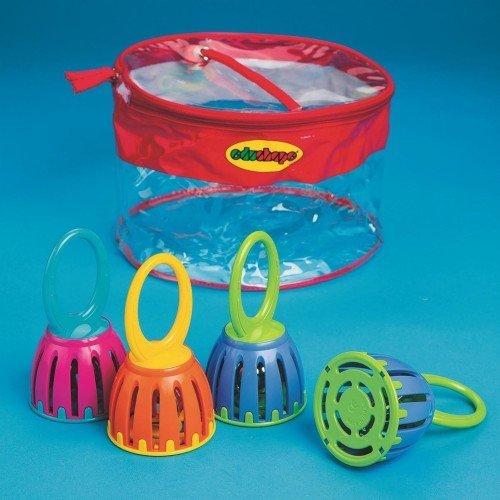 Kids Bell - Edushape HL341-4 Cage Bells (Pack of 4)