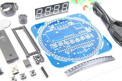 DS1302 Digital LED Clock Kit Unsoldered SMD Soldering Temp EC1204B