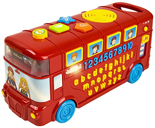 CoolToys Baby Phonics Playtime School Bus | ABC, Numbers, Music, Colors and Quiz Mode | Portable Early Learning Electronics Toy for Boys and Girls | Adjustable -