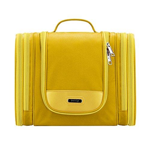 Toiletry Organizer Bright, Yeiotsy Magical Series Hanging Travel Toiletry Bag Cosmetics Organizer (Yellow)
