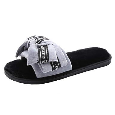 Damen Sommer Sandalen Mode Flach Hausschuhe Schlappen Rutschfest Strand Badeschuhe Pantoffeln von Bluelucon