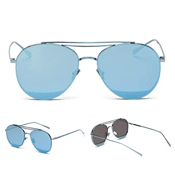 Z&YQ Lunettes de soleil mode mâle et femelle couleur film transparent lunettes de soleil , gold frame grey slice