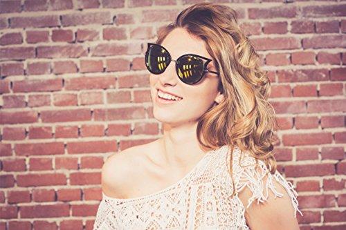 Ojos Damas Gato Gafas Espejadas Vintage de Cheapass Cateye Negro de Mujer Festival Sol Transparente PntwHXUFq