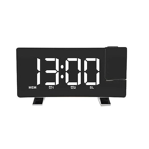 Despertador Digital, Reloj LED Radio FM Proyector de Techo Reloj ...