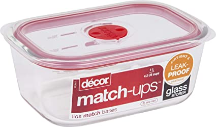 Amazon Com Decor 205800 004 Match Ups Realseal Food Storage 33 8oz