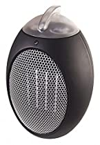 Cozy 9 x 9 x 13 Ceramic Electric Space Heater, Black, 120VAC