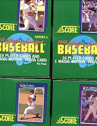 Lot Of 4 1991 Score Baseball Card Series 1 Wax Pack Box