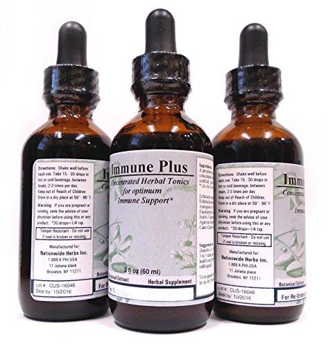Иммунная Кроме того, концентрированные травяные тоники для оптимальной иммунной поддержки - (2 жидких унций) Эта формула Бои Вирусы, простуды, инфекции, воспаление горла и заболеваний.