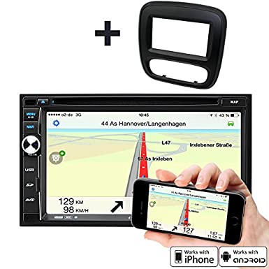 17.78 cm de alta velocidad-GPS-para radio de coche para Opel Vivaro B (X82), Nissan ...