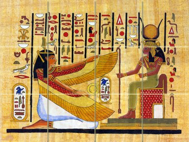 FlekmanArt from The Tomb by Egyptian Ancient Art- Ceramic Tile Mural 24