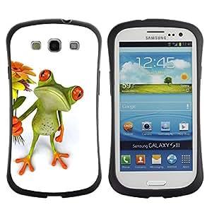 "Pulsar iFace Series Tpu silicona Carcasa Funda Case para SAMSUNG Galaxy S3 III / i9300 / i747 , Flores verde dulce amor Novia"""