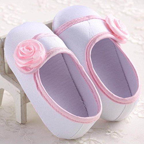 Jamicy® Baby Mädchen stieg Dekoration niedlichen Anti-Rutsch weiche Sohle Kleinkind Schuhe Weiß