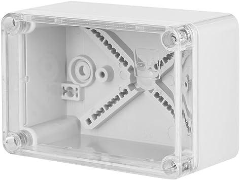 Aufputz Schalkasten IP65 Verteilerkasten 135x74x72 grau Industrie Geh/äuse