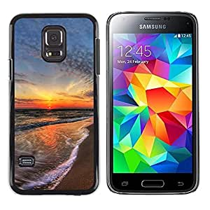Paccase / SLIM PC / Aliminium Casa Carcasa Funda Case Cover - Sunset Sea Beautiful Nature 15 - Samsung Galaxy S5 Mini, SM-G800, NOT S5 REGULAR!