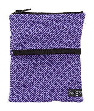 Sprigs Big Banjee Wrist Wallet, One Size, Geo Purple / Black - NEW