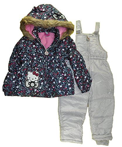 Hello Kitty Little Girls 2pc Printed Snowsuit (6, Multi HK)
