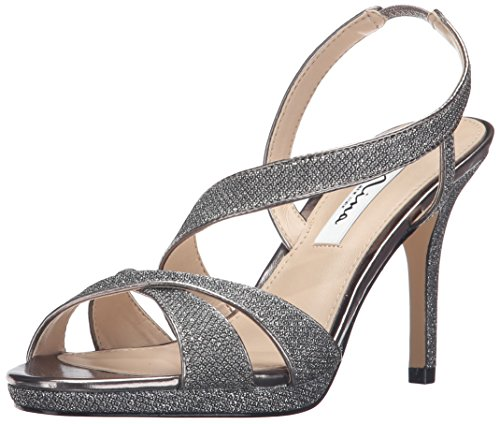 Nina Women's Brilyn-Yf Dress Pump, Charcoal Dream/Silver Gun Metallic, 7.5 M US