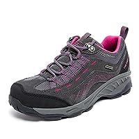 TFO Women's Outdoor Hiking Shoes Low Rise Waterproof Anti-Slip Climbing Shoes Lightweight Breathable Trekking Shoes,Dark Gray(UK5)