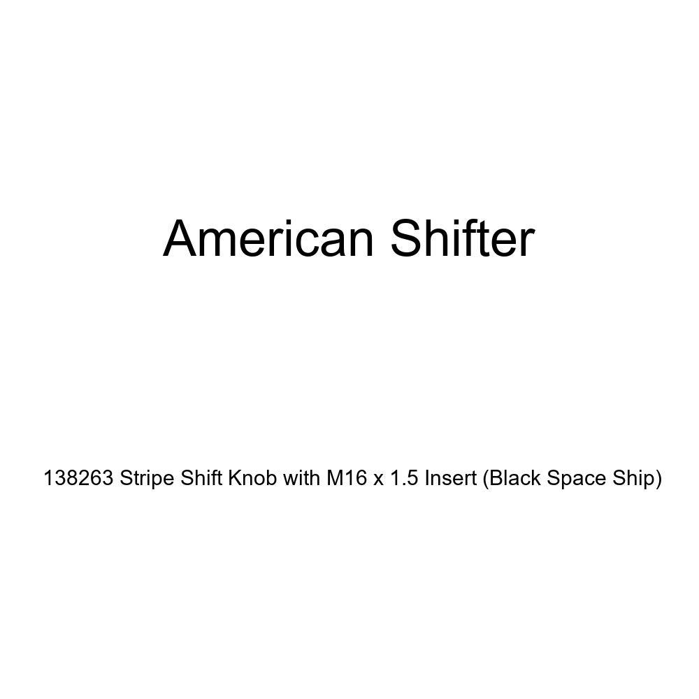 American Shifter 138263 Stripe Shift Knob with M16 x 1.5 Insert Black Space Ship