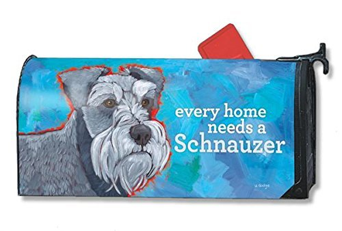 Mailwraps Schnauzer Dog Magnetic Mailbox Cover