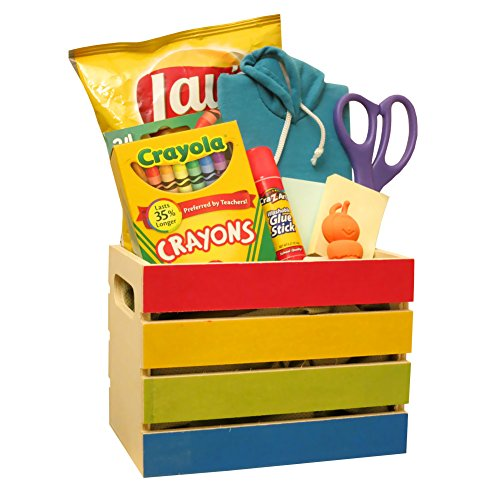 SURPRISE GIFT BASKET! Packed in an Exciting, Useful Colored Favor Gift Box, Full of Supplies, Perfect Entertainment for Girls and Boys!
