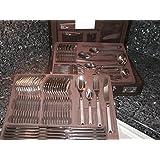 SWISSAMC Flatware Set 72 piece Cutco Silverware Cutlery Christofle Warranty Stainless Steel