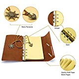 PU Leather Writing Journal Notebook Classic Spiral
