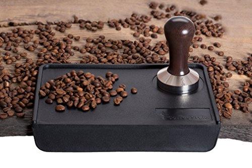 Coffee Tamper Standard for Espresso, Stainless Steel and Handle from solid wood (53mm, Venge)