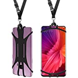 Cell Phone Lanyard Case, Universal 4.5''-6.5'' Smartphone Cover with Adjustable Neck Strap Holder For iPhone X 8 7 6 Plus 5 SE iPod Touch Moto G5 Plus Moto X4 Samsung Galaxy S9 S8 S7 S6 Edge J7 Note 8
