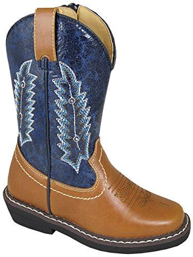 Smoky Mountain Boots Children Boys Austin Lights Blue/Tan Fa