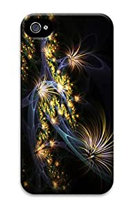Digital Image Printed On the Single Back Cellphone Case Cover For iPhone 4 3D Hard Plastic Shell Skin For iPhone 4-Flower 34
