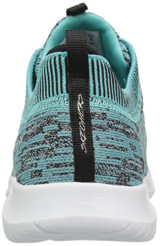 Skechers Turquise Black Mode Baskets Femme HqAYP