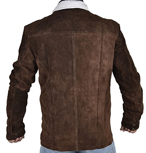 Sleekhides Mens Rick Grimes Walking Dead Suede Leather Jacket at Amazon Mens Clothing store: