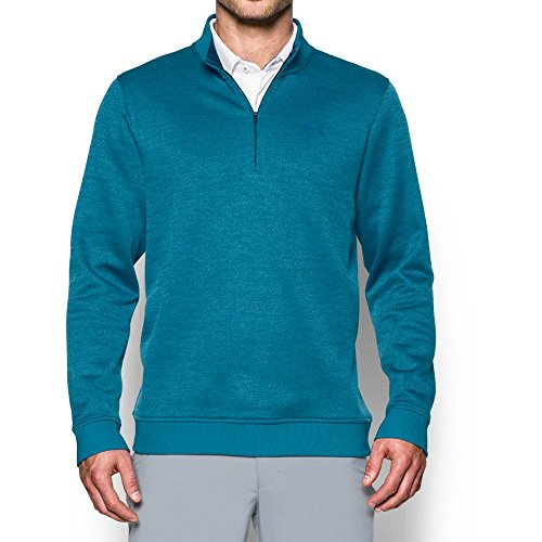 Under Armour Men's Storm 1/4 Zip Top, Bayou Blue /Academy, Large (Under Armour Mens Qualifier 1 4 Zip)