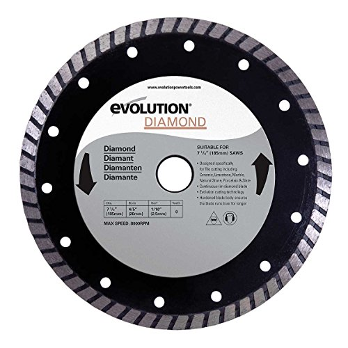Evolution Power Tools 185BLADEDM 7-1/4-Inch Diamond Masonry Blade with 20mm Arbor
